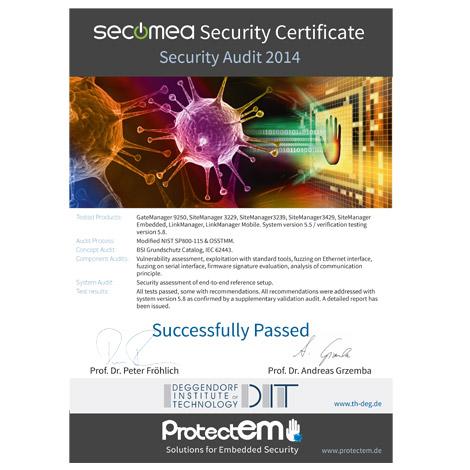 Secomea Security zertifikat